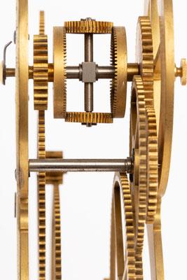 Mondphasengetriebe, Uhrmacherschule Furtwangen, um 1919, Detail Differenzialgetriebe