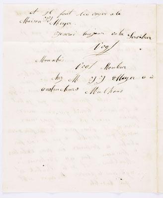 08. Januar 1846, Brief von J.J. Meyer & Cie (Mulhouse) an S. Marti & Cie. (Montbéliard), Inhalt 2