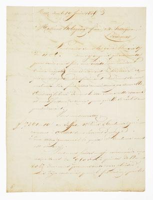 Vandel Aîné et Cie, Horloger á Morez 1835, Brief Seite 1