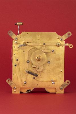 Rechenschlagwerk, Uhrmacher Anton Breger, Vöhrenbach im Schwarzwald um 1860, Vorderansicht