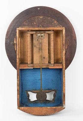 Pendeluhr von Mathä Winterhalder aus Friedenweiler bei Neustadt (Schwarzwald) - Uhr von hinten ohne Rückwand