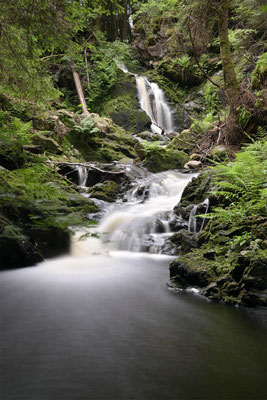 Falkauer Wasserfall im Sommer