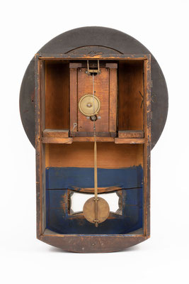 Mathias Behringer, Drop Dial Clock, Langenordnach im Schwarzwald um 1865, Rückseite ohne Rückwand