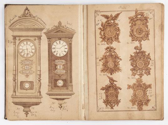 Kuckucksuhr Katalog um 1890, Schwarzwald Seite 9