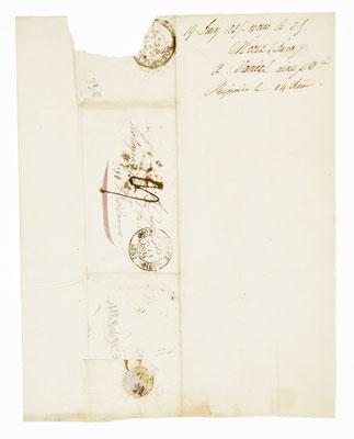 Vandel Aîné et Cie, Horloger á Morez 1835, Briefhülle