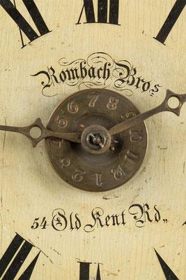 postman's alarm clock, Detail der Signatur Rombach Bros.