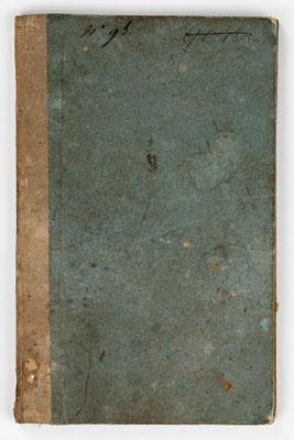 Wanderbuch des Uhrmachergesellen Georg Bilharz von 1849 bis 1851, Kenzingen im Großherzogtum Baden, Umschlag Rückseite