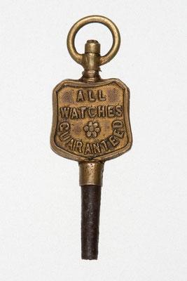 Taschenuhrenschlüssel Rückseite von A. Siedle