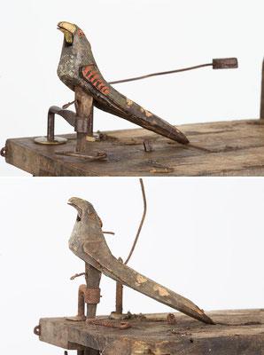 Der Kuckucksvogel nach und vor der Bearbeitung