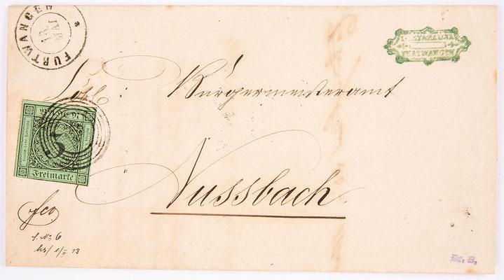 Brief von Lamy & Haller nach Nussbach, Furtwangen 1857