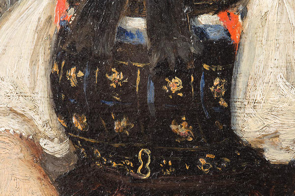 Johann Baptist Laule, schwarzwälder Tracht, Detailaufnahme