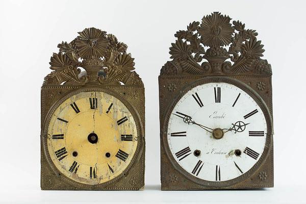 Vergleich Schwarzwald Comtoise-Uhr mit Französischer Comtoise-Uhr