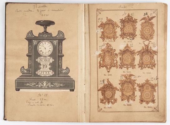 Kuckucksuhr Katalog um 1890, Schwarzwald Seite 5