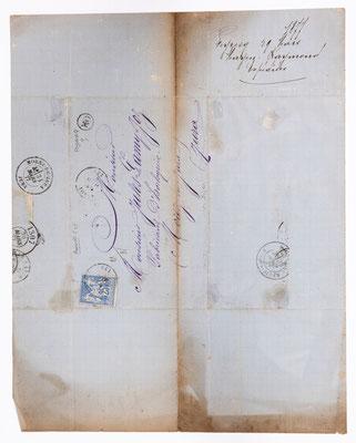 Jules Lamy, Morez 29.03.1877, Briefhülle