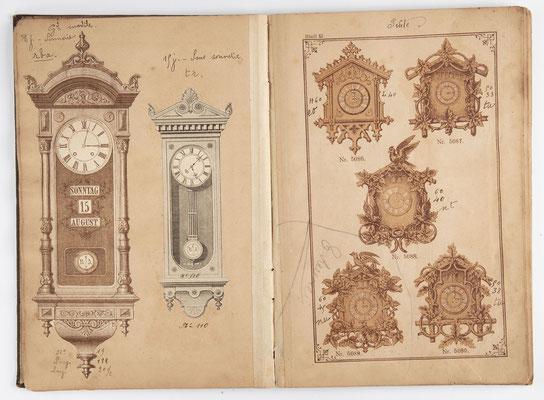 Kuckucksuhr Katalog um 1890, Schwarzwald Seite 12