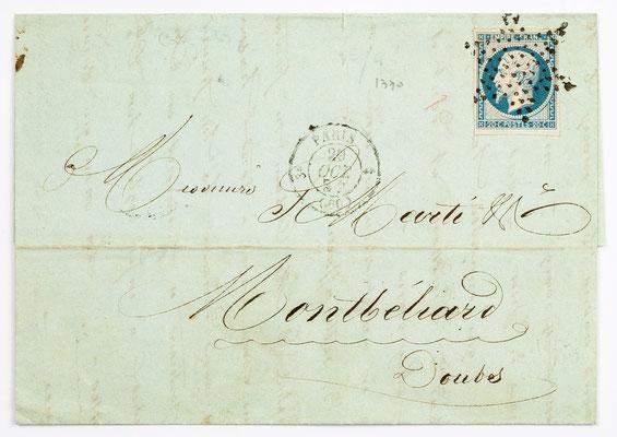 29. Februar 1854, Brief von S. Marti (Paris) an S. Marti & Cie. (Montbéliard)