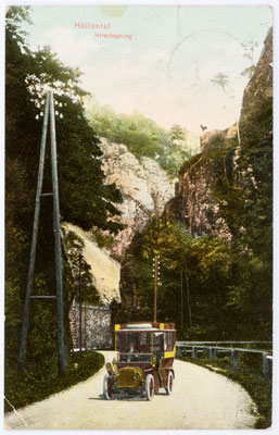 Höllental, Hirschsprung Postkarte 19.08.1911