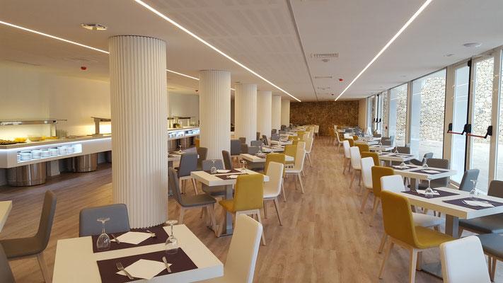 Restaurant d'hotel, aménagement de restauration d'hotel, chaises de restaurant hotel, table de restaurant d'hotel, meuble de cafeteria d'hotel, meuble d'hotellerie, décoration hotels, decoration eurpéenne de meuble d'hotel, aménagement et design interieur