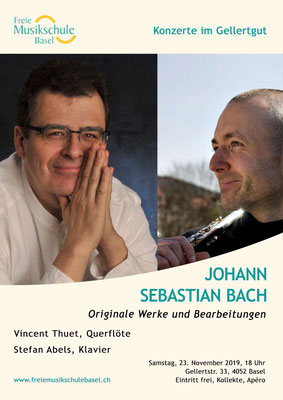Affiche du premier concert avec le pianiste Stefan Abels.