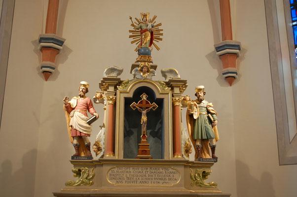 Hochaltar mit St. Cosmas und St. Damian