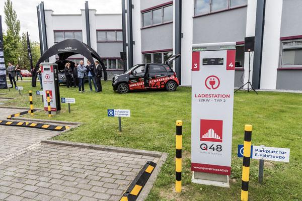 Ladestationen am Büro Q48 in Cottbus