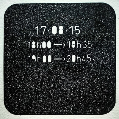 """"""" TEMPOREL -XIX """"- 02 h 20 mn. Série 2. Pointe fine sur papier. Format : 15 x 15 cm."""