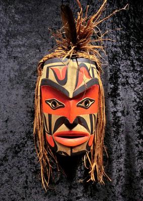 """Friendship Mask"" 2019 Alex McCarty Makah"