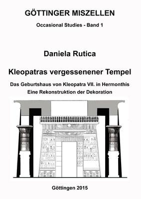 Coverbild Innenseite: Kleopatras vergessener Tempel mit einer Zeichnung von Daniela Rutica