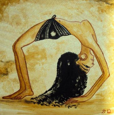 Daniela Rutica: Ägyptische Tänzerin, 30 x 30 cm, Acryl/Lw, 2012