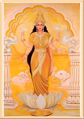 """Daniela Rutica, """"Lakshmi"""", 90 x 120 cm, Acryl/Lw., 2007"""