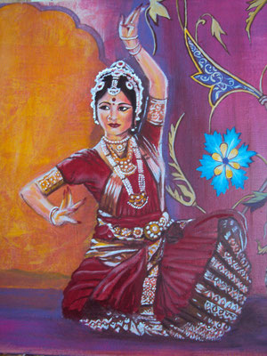 Daniela Rutica: Bharata Natyam, 50 x 50 cm, Acryl/Lw, 2012