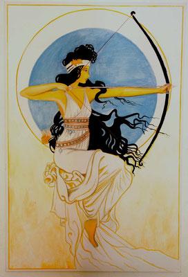 Daniela Rutica: Artemis, 90 x 120 cm, Acryl/Lw, 2010