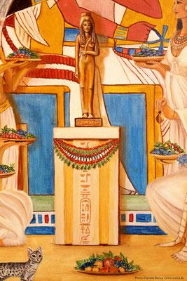 Daniela Rutica: Ahmes Nefertari (Detail), 100 x 100 cm, Acryl/Lw, 2014
