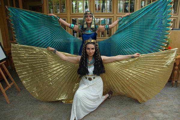Pharaonic Dance: gemeinsamer Auftritt mit Shahrazad bei einer Geburtstagsfeier