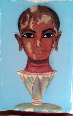 Daniela Rutica: Tutanchamun - Sonnenkind aus der Lotosblume, 40 x 30 cm, Eitempera/Papier, 2010