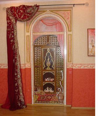 nachher: bemalte Tür im Tanzstudio Oriental, Lippstadt