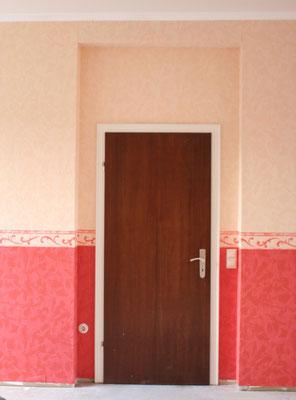 Vorher: Tür im Tanzstudio Oriental
