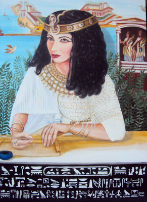 Daniela Rutica: Kleopatra, 50 x 70 cm, Acryl/Lw, 2012