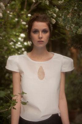 Marguerite : blouse goutte eau devant dos dentelle - Collection Romantic - Jeanne Berre