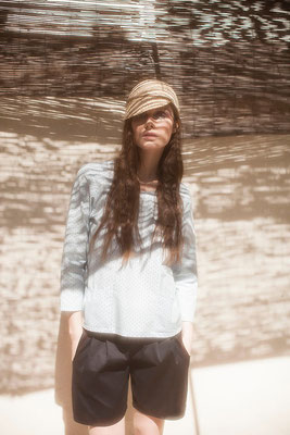 Lucille : blouse petites poches devant - Collection Romantic - Jeanne Berre