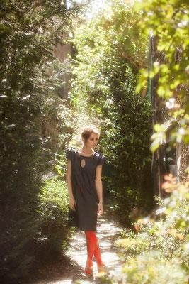 Jacqueline : robe goutte eau devant dos - Collection Romantic - Jeanne Berre