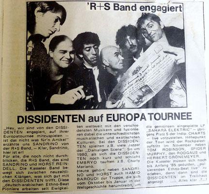 Zeitungsbericht zur Fusion mit den Dissidenten