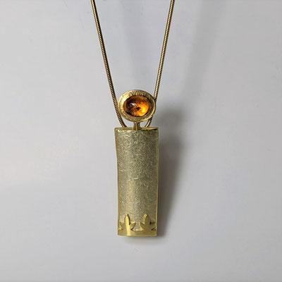 Anhänger 750 Gold, Feueropal