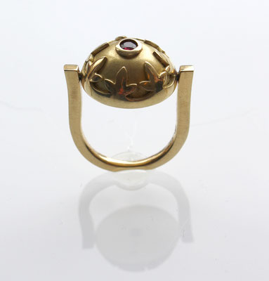 Ring 750 Gold, Rubin