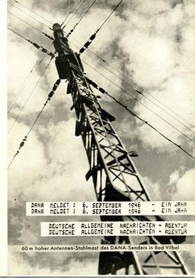 """Titelfoto des Heftes aus dem Jahre 1946:  """"DANA MELDET:  6. SEPTEMBER 1946 - EIN JAHR"""", eine Schenkung von Prof. Dr. Gerhard Martin, Bad Nauheim am 10.08.2016, Hinterlegung: ONLINE-MUSEUM BAD NAUHEIM"""