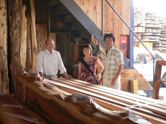 奈良県橿原市の大津木材訪問