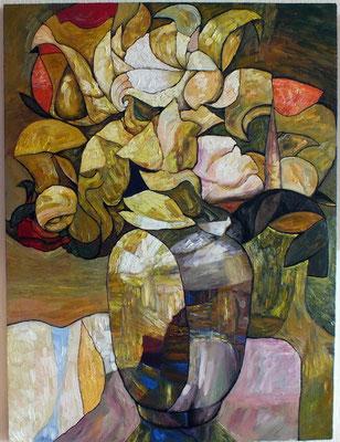 Григорий Лесухин.      Флорист.      2015 г.     Холст, масло.     83х70 см.