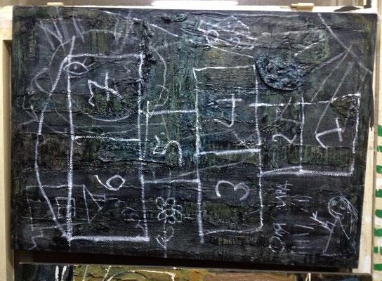 Катерина Поединщикова.     Классики - 1.      2014 г.    Холст, масло.   100х80 см.