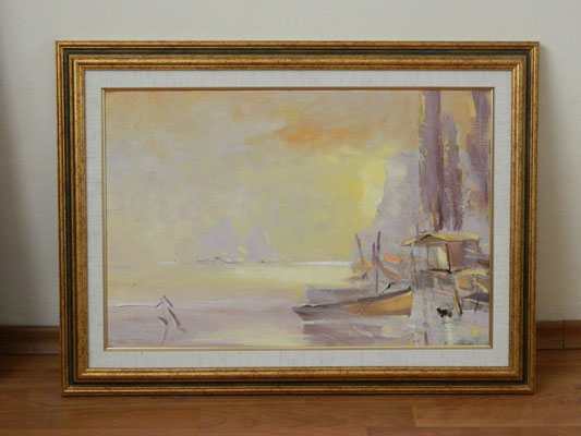 Артем Белостоцкий.    На берегу моря.      2007 г.      Холст, масло.    40х60 см.