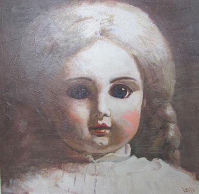 Юрий Первушин.     Старинная кукла 3.     2014 г.    Холст, акрил.    60х60 см.